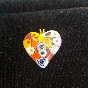 Jewelry - Murano glass heart pendant